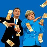 """Krisenfinanzierung: Bundeskanzlerin Angela Merkel legt zusammen mit dem französischen Staatspräsident Emmanuel Macron die deutsch-französischen Ideen für einen """"Wiederaufbaufonds"""" vor."""