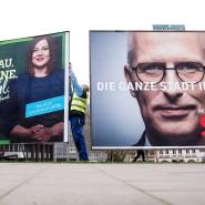 Bisher Partner: Plakate von Grünen und SPD in Hamburg