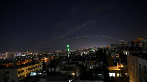 Mutmaßliche Raketenangriffe von Israel