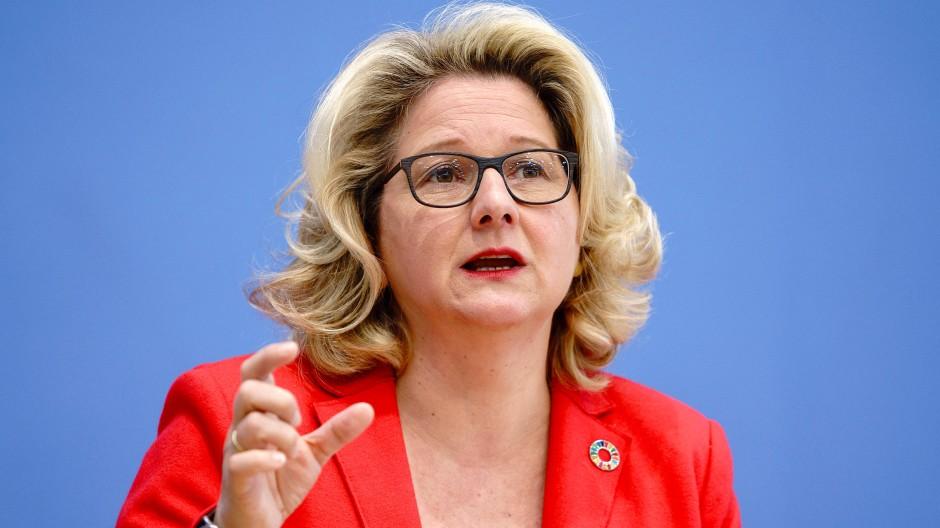 Svenja Schulze (SPD), Bundesministerin für Umwelt, Naturschutz und nukleare Sicherheit in Berlin