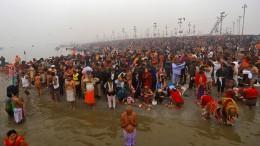 Ein heiliges Bad im Ganges