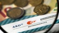 Formular für den Rundfunkbeitrag für ARD, ZDF und Deutschlandradio.