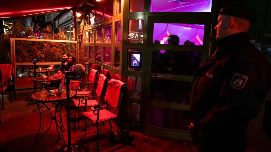 Razzia gegen Clankriminalität in einer Shisha-Bar in Bochum im Januar 2019