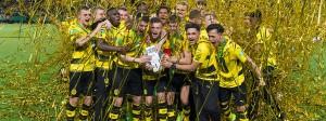 Die U19 von Borussia Dortmund hat als erste deutsche Mannschaft ihren Meistertitel in der A-Junioren-Bundesliga verteidigt.