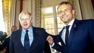 Der britische Premierminister Boris Johnson und der französische Präsident Emmanuel Macron im August beim G-7-Gipfel in Biarritz
