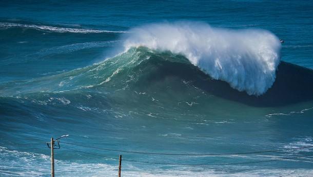 Die Welle brechen