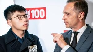 Deutscher Botschafter wegen Wong einbestellt