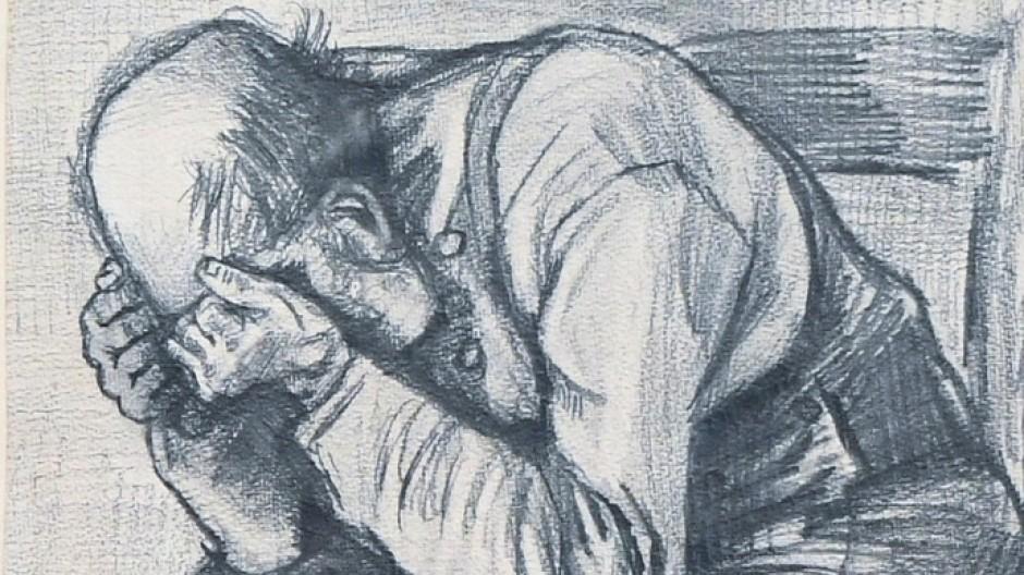 Hinwendung zu den Erschöpften und von der Gesellschaft Verwaisten: Den alten Mann auf der wiederentdeckten Zeichnung hielt Van Gogh höchstwahrscheinlich 1882 fest.