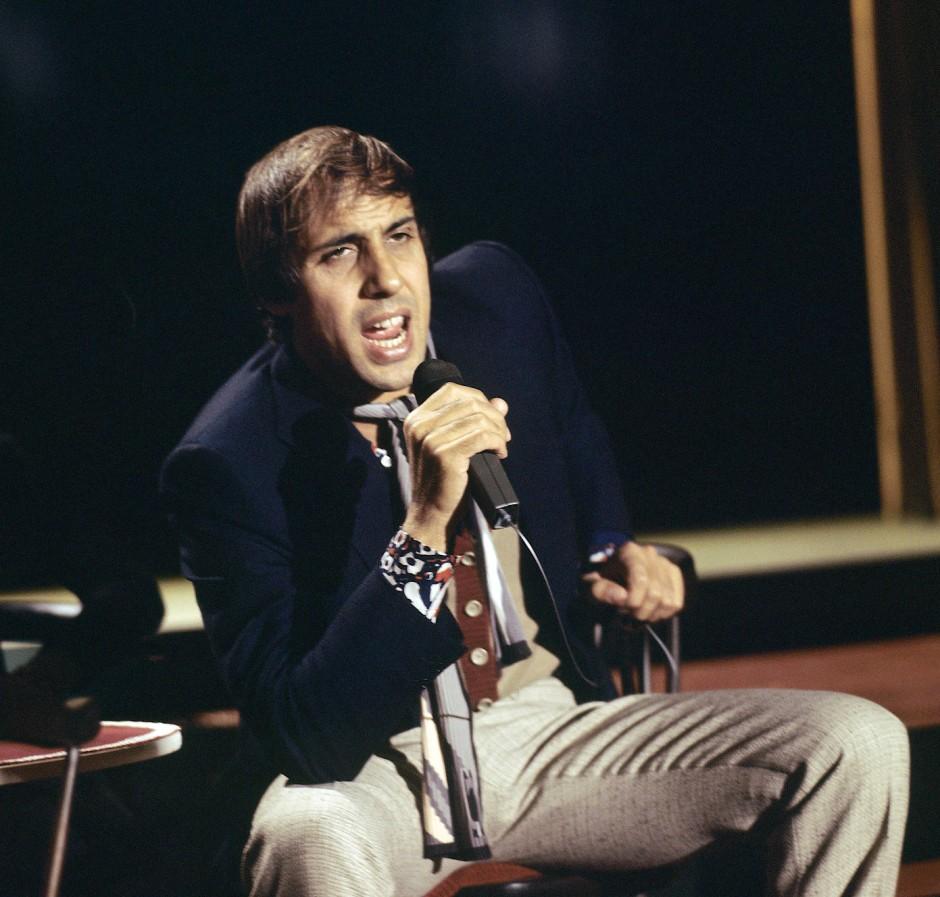 Adriano Celentano im ZDF-Nightclub am 7. Oktober 1970
