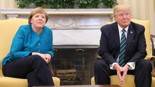 Merkel will mit Trump Handelsstreit und Iran-Konflikt lösen