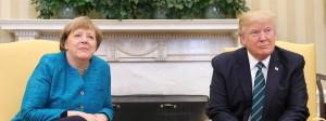 Angela Merkel und Donald Trump vor knapp einem Jahr im Weißen Haus. Nun reist die Kanzlerin wieder nach Washington.