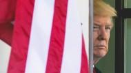 Der amerikanische Präsident Donald Trump am 20. April in Washington