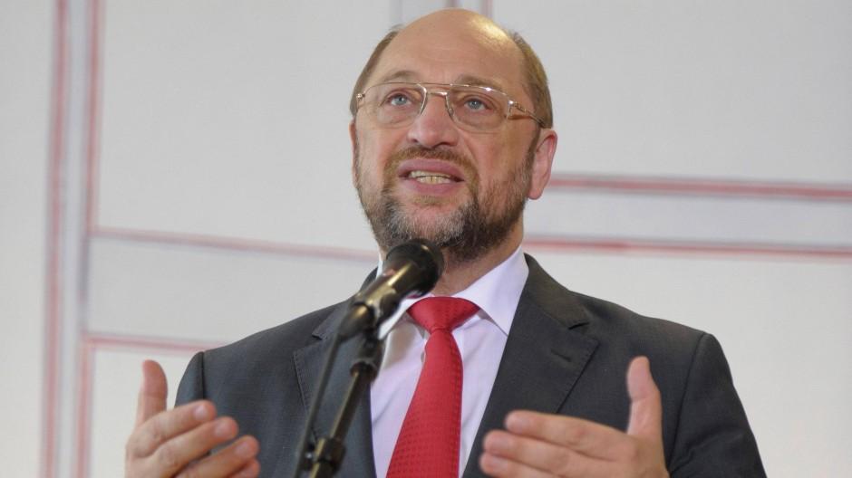 Martin Schulz bei seiner Rede vor dem Europäischen Rat
