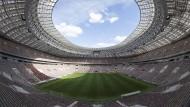 Das Luschnikistadion in Moskau - hier findet am 15. Juli das WM-Finale statt.