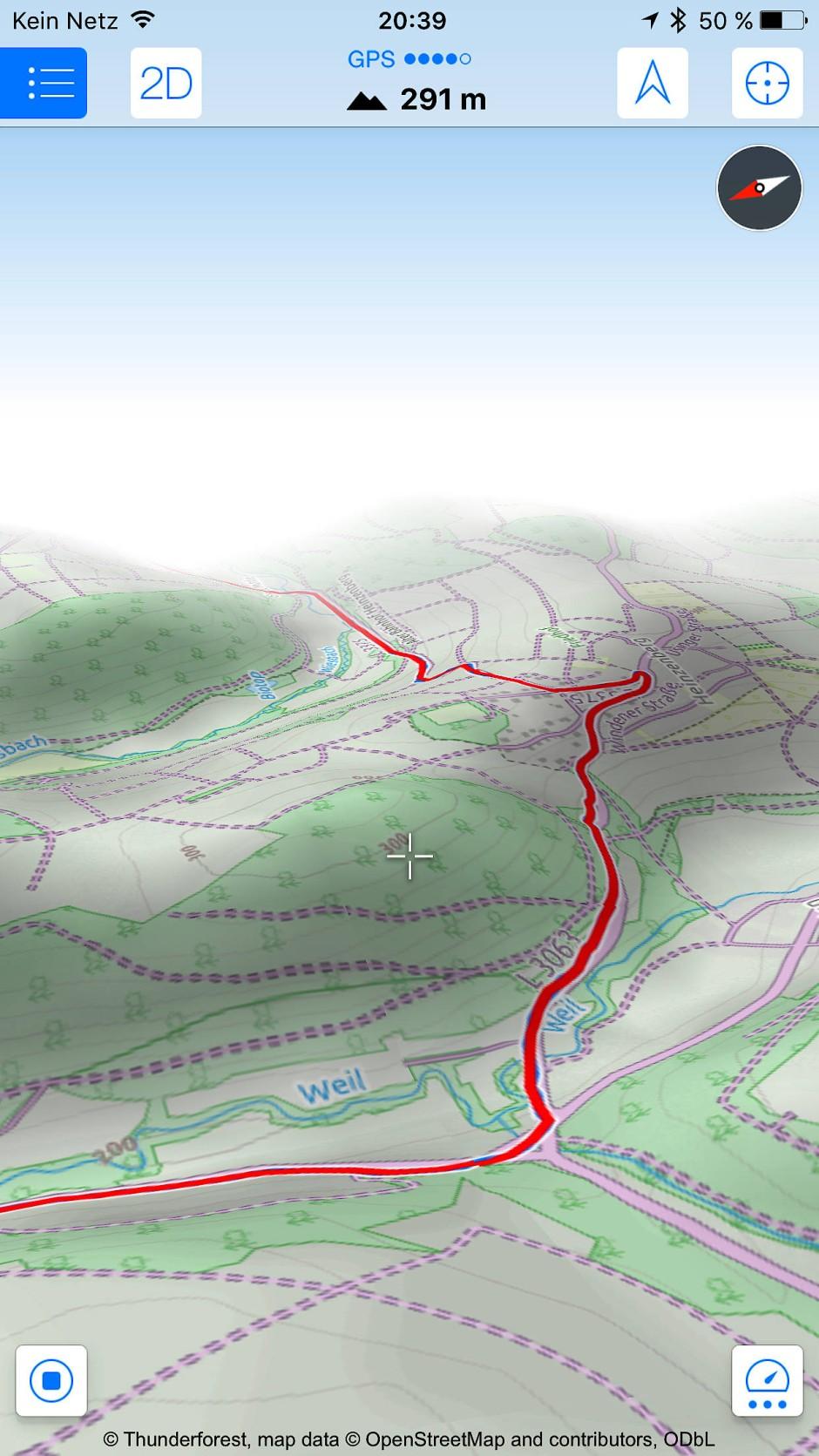 Mit Maps 3D pro auf dem iPhone geplant – und dann brav der Route gefolgt.