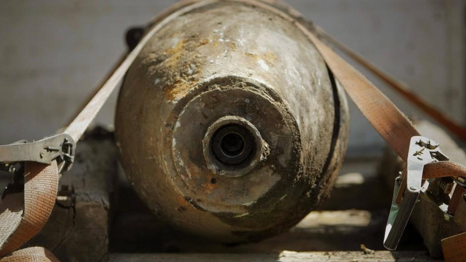 So oder so ähnlich könnte sie aussehen: In Frankfurt-Riederwald ist eine Weltkriegsbombe gefunden worden.