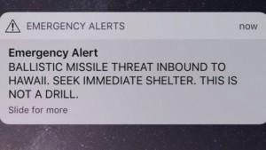 Raketenalarm auf Hawaii