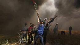 Wie ein Fußball zwischen der Hamas und Israel