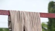 Nicht hängenlassen: rosafarbene Hose von Missoni