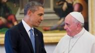 Obama trifft Papst und italienische Regierung