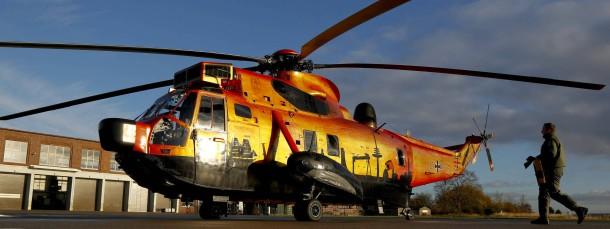 """Noch einsatzbereit: Ein Hubschrauber des Typs """"Sea King"""" auf dem Fliegerhorst in Kiel (Archivbild)"""