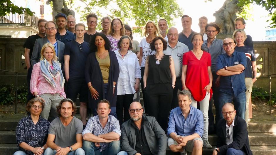 Die Teilnehmer der Autorenkonferenz im Mai