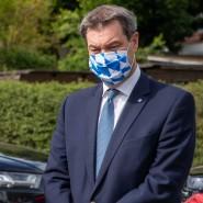 Will weiter an Kontaktbeschränkungen festhalten: Der Ministerpräsident von Bayern, Markus Söder
