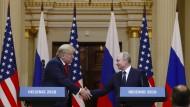 Zwei Alphatiere, die sich verstehen: Trump und Putin lagen bei ihrem Treffen in Helsinki auf einer Wellenlänge.