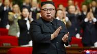 Kim Jong-un am Montag in Pjöngjang.