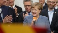 Angela Merkel am Wahlabend in der CDU-Parteizentrale