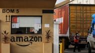 Ein Amazon-Lager in einem Vorort von Mumbai