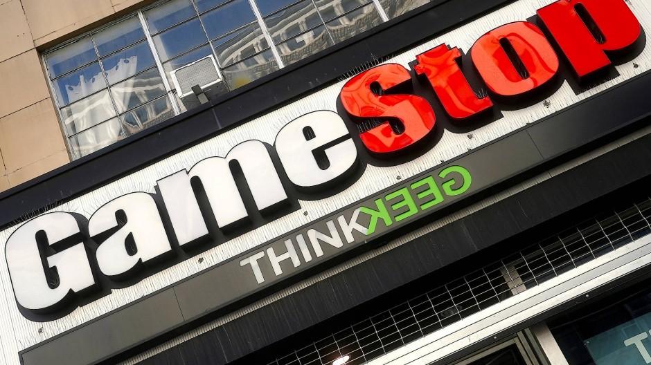 Logo einer Gamestop-Filiale in Manhattan, 29. Januar 2021.
