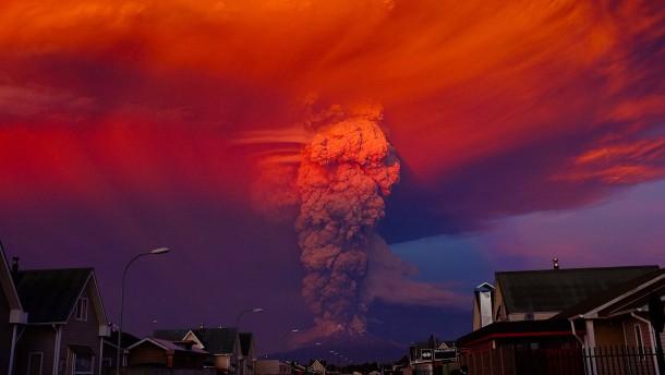 spektakulärer vulkanausbruch in südchile