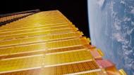 Existierendes Sonnensegel an der International Space Station (ISS)