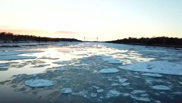Eisige Schönheit in Massachusetts