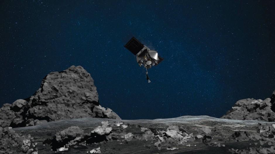 Anspruchsvolles Manöver: Die Oberfläche des Asteroiden Bennu ist felsiger als erwartet
