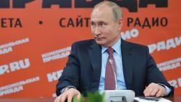 Putin über Kim Jong-un: kompetent und reif!