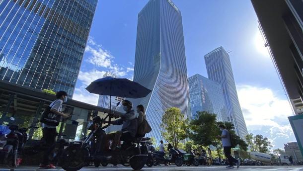 Angeschlagener Immobilienkonzern Evergrande legt an Börse kräftig zu