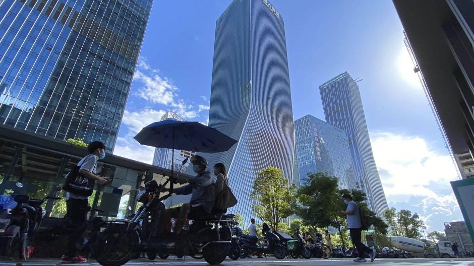 Zentrale von Evergrande in Shenzhen im Süden Chinas