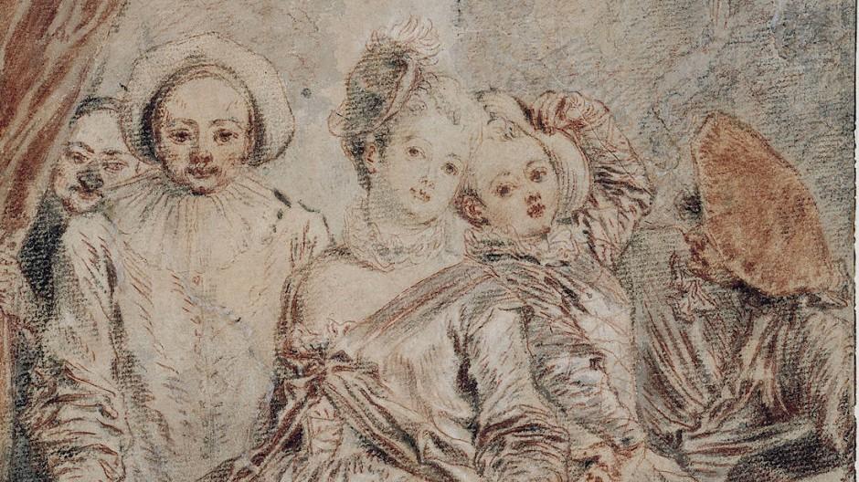 """""""Die italienische Schauspielertruppe"""" (ca.1715)"""