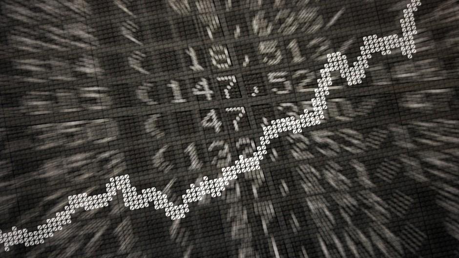 Das Auf und Ab der Börsenkurse