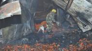 Feuer tötet mindestens 18 Chinesen in Lebensmittelfabrik