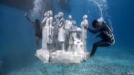Wachsende Kunst auf dem Meeresboden