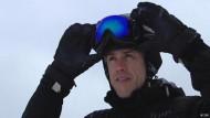 Mit der Datenbrille Ski fahren