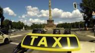 Im Taxi durch Berlin