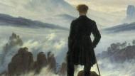 Wanderer über dem Nebelmeer als Kunst-Ikone