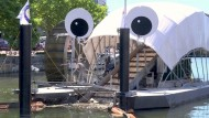 """Mr. Trash Wheel"" sammelt Müll aus dem Meer"