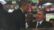 Historisches Treffen von Obama und Castro erwartet