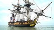Frankreichs Hermione segelt nach Amerika