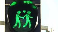 Schwule Ampelmännchen in Wien